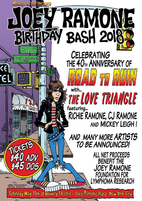 f452d8ad0d31 JOEY RAMONE'S 67TH BIRTHDAY CELEBRATION IN NEW YORK ON MAY 19, 2018.
