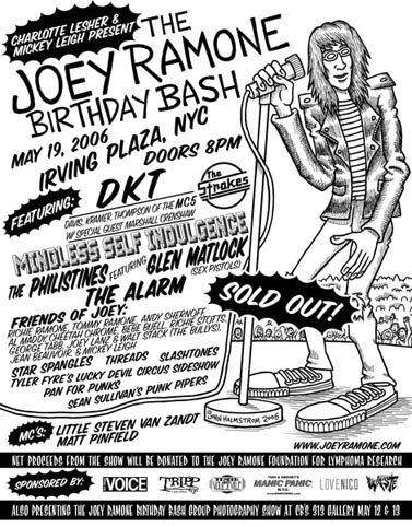 46447e2fa421 The sixth annual JOEY RAMONE BIRTHDAY BASH took place at famed New York  City venue Irving Plaza on what would have been JOEY's 55th birthday:  Friday, ...